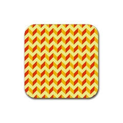 Modern Retro Chevron Patchwork Pattern  Drink Coasters 4 Pack (square)