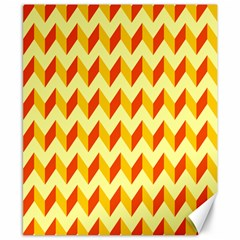 Modern Retro Chevron Patchwork Pattern  Canvas 8  X 10  (unframed)