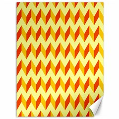 Modern Retro Chevron Patchwork Pattern  Canvas 36  X 48  (unframed)