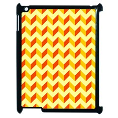 Modern Retro Chevron Patchwork Pattern  Apple Ipad 2 Case (black)