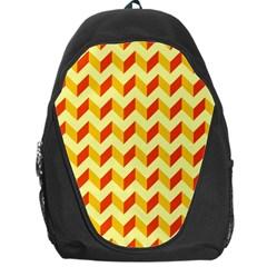 Modern Retro Chevron Patchwork Pattern  Backpack Bag