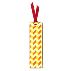 Modern Retro Chevron Patchwork Pattern  Small Bookmark