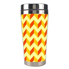 Modern Retro Chevron Patchwork Pattern  Stainless Steel Travel Tumbler