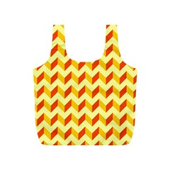 Modern Retro Chevron Patchwork Pattern  Reusable Bag (S)