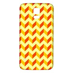 Modern Retro Chevron Patchwork Pattern  Samsung Galaxy S5 Back Case (white)