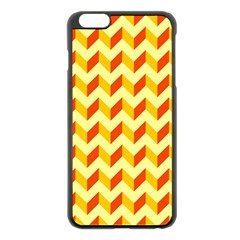 Modern Retro Chevron Patchwork Pattern  Apple Iphone 6 Plus Black Enamel Case