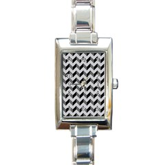 Modern Retro Chevron Patchwork Pattern  Rectangular Italian Charm Watch
