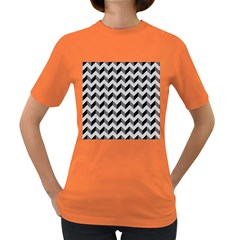 Modern Retro Chevron Patchwork Pattern  Women s T Shirt (colored)