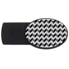 Modern Retro Chevron Patchwork Pattern  4gb Usb Flash Drive (oval)