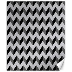 Modern Retro Chevron Patchwork Pattern  Canvas 8  X 10  (unframed)