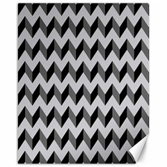 Modern Retro Chevron Patchwork Pattern  Canvas 16  X 20  (unframed)