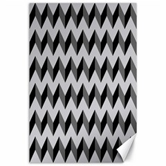 Modern Retro Chevron Patchwork Pattern  Canvas 24  X 36  (unframed)