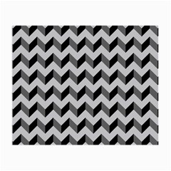 Modern Retro Chevron Patchwork Pattern  Glasses Cloth (small, Two Sided)