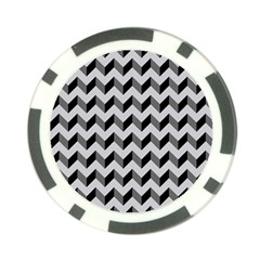 Modern Retro Chevron Patchwork Pattern  Poker Chip
