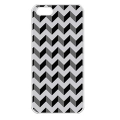 Modern Retro Chevron Patchwork Pattern  Apple Iphone 5 Seamless Case (white)
