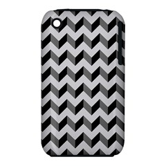 Modern Retro Chevron Patchwork Pattern  Apple Iphone 3g/3gs Hardshell Case (pc+silicone)