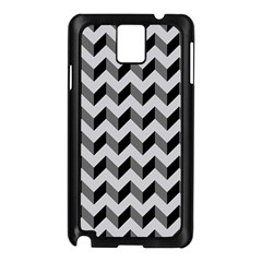 Modern Retro Chevron Patchwork Pattern  Samsung Galaxy Note 3 N9005 Case (Black)