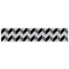 Modern Retro Chevron Patchwork Pattern  Flano Scarf (Small)