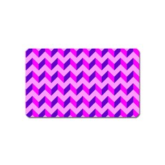 Modern Retro Chevron Patchwork Pattern Magnet (name Card)
