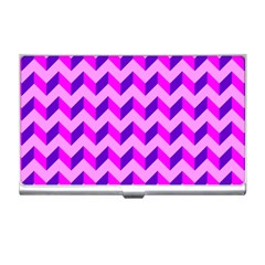Modern Retro Chevron Patchwork Pattern Business Card Holder