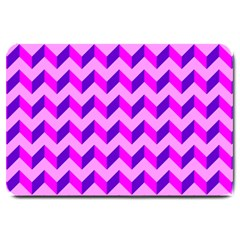 Modern Retro Chevron Patchwork Pattern Large Door Mat