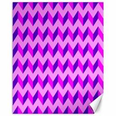 Modern Retro Chevron Patchwork Pattern Canvas 11  X 14  (unframed)