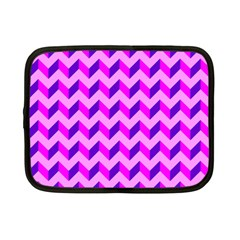 Modern Retro Chevron Patchwork Pattern Netbook Sleeve (small)
