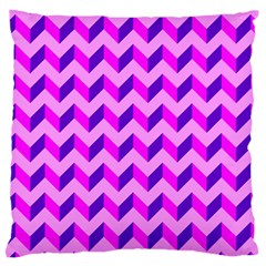 Modern Retro Chevron Patchwork Pattern Large Cushion Case (two Sided)
