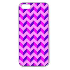 Modern Retro Chevron Patchwork Pattern Apple Seamless Iphone 5 Case (clear)
