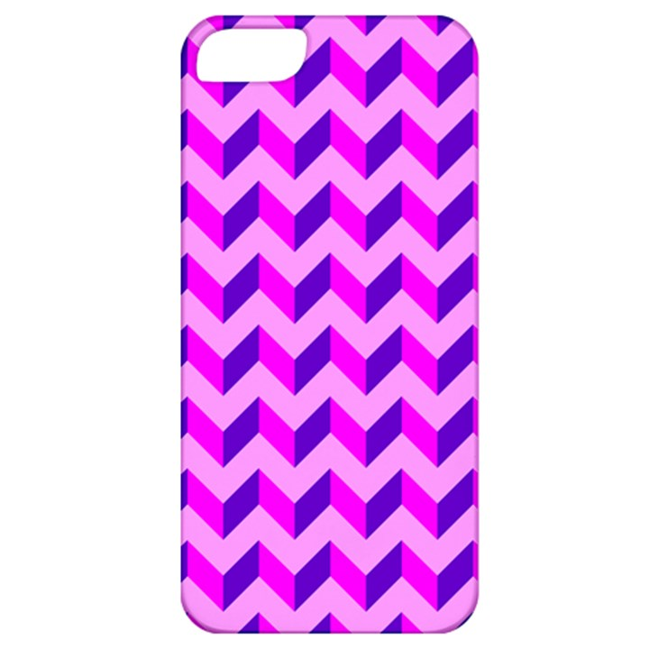 Modern Retro Chevron Patchwork Pattern Apple iPhone 5 Classic Hardshell Case