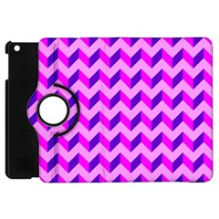 Modern Retro Chevron Patchwork Pattern Apple Ipad Mini Flip 360 Case
