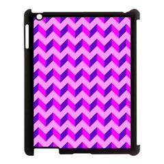 Modern Retro Chevron Patchwork Pattern Apple Ipad 3/4 Case (black)