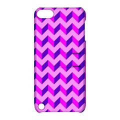 Modern Retro Chevron Patchwork Pattern Apple Ipod Touch 5 Hardshell Case With Stand