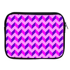 Modern Retro Chevron Patchwork Pattern Apple Ipad Zippered Sleeve