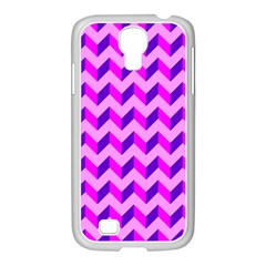 Modern Retro Chevron Patchwork Pattern Samsung Galaxy S4 I9500/ I9505 Case (white)