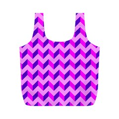 Modern Retro Chevron Patchwork Pattern Reusable Bag (m)