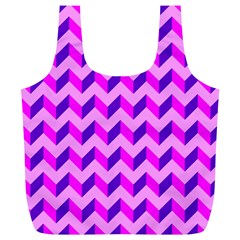 Modern Retro Chevron Patchwork Pattern Reusable Bag (xl)