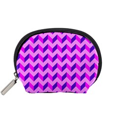 Modern Retro Chevron Patchwork Pattern Accessory Pouch (small)