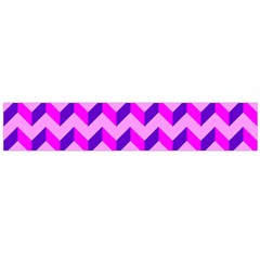 Modern Retro Chevron Patchwork Pattern Flano Scarf (Large)