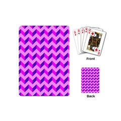 Modern Retro Chevron Patchwork Pattern Playing Cards (mini)