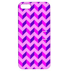 Modern Retro Chevron Patchwork Pattern Apple Iphone 5 Hardshell Case With Stand