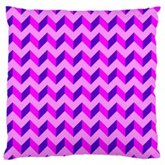 Modern Retro Chevron Patchwork Pattern Large Flano Cushion Case (two Sides)