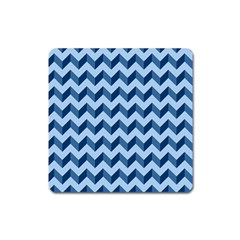 Tiffany Blue Modern Retro Chevron Patchwork Pattern Magnet (square)