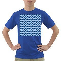 Tiffany Blue Modern Retro Chevron Patchwork Pattern Men s T Shirt (colored)
