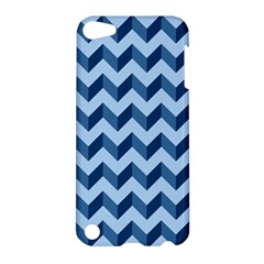 Tiffany Blue Modern Retro Chevron Patchwork Pattern Apple Ipod Touch 5 Hardshell Case