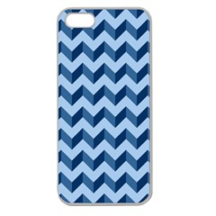 Tiffany Blue Modern Retro Chevron Patchwork Pattern Apple Seamless Iphone 5 Case (clear)