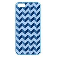 Tiffany Blue Modern Retro Chevron Patchwork Pattern Apple Seamless Iphone 5 Case (color)