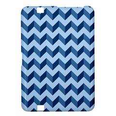 Tiffany Blue Modern Retro Chevron Patchwork Pattern Kindle Fire Hd 8 9  Hardshell Case