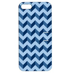 Tiffany Blue Modern Retro Chevron Patchwork Pattern Apple Iphone 5 Hardshell Case With Stand