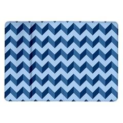 Tiffany Blue Modern Retro Chevron Patchwork Pattern Samsung Galaxy Tab 10 1  P7500 Flip Case